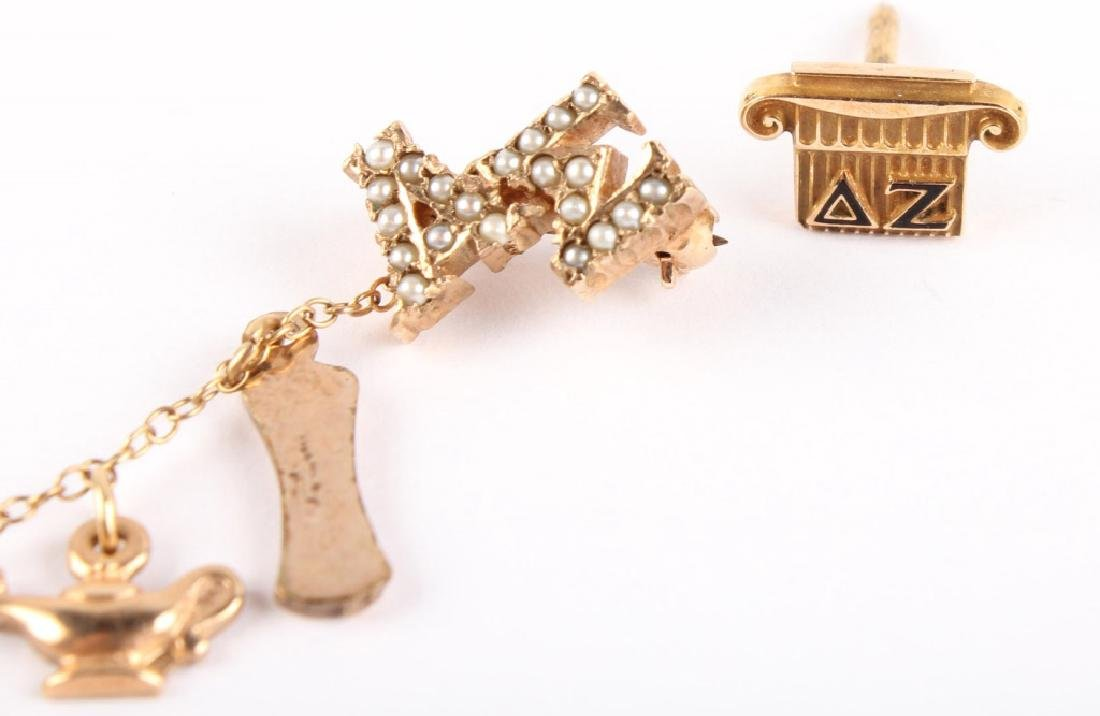 LOT OF 3 FRATERNAL 10K YELLOW GOLD & PLATED PINS - 4