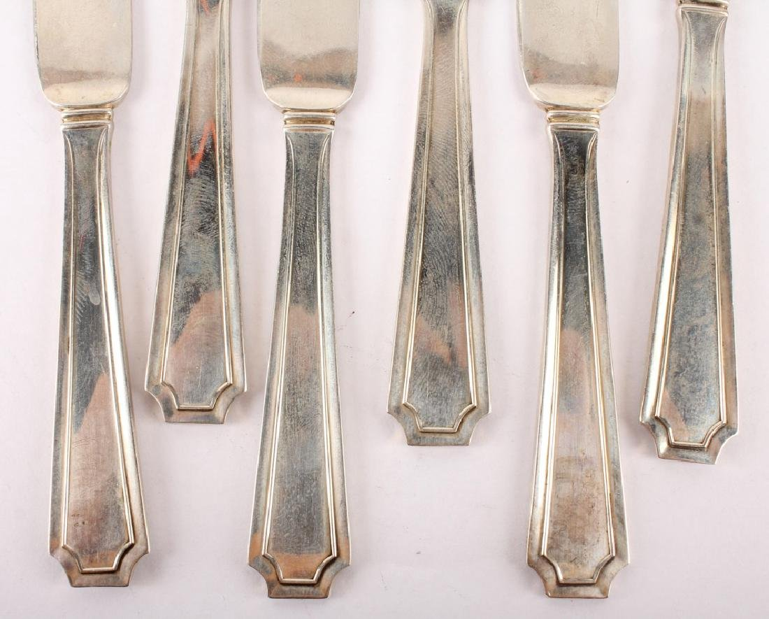 6 DURGIN STERLING SILVER FAIRFAX BUTTER KNIVES - 2