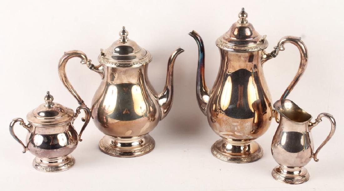 & INTERNATIONAL SILVER CO. SILVER PLATED TEA SET