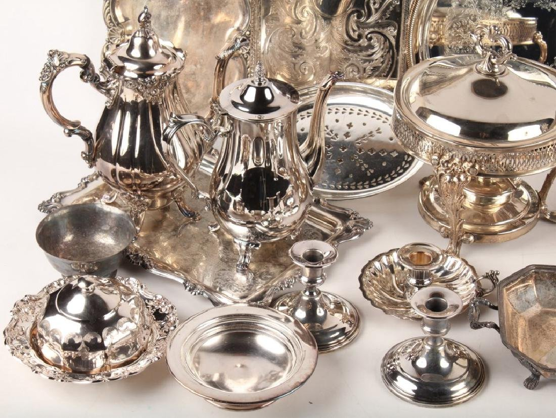 LARGE LOT OF SILVER PLATED ITEMS - 2