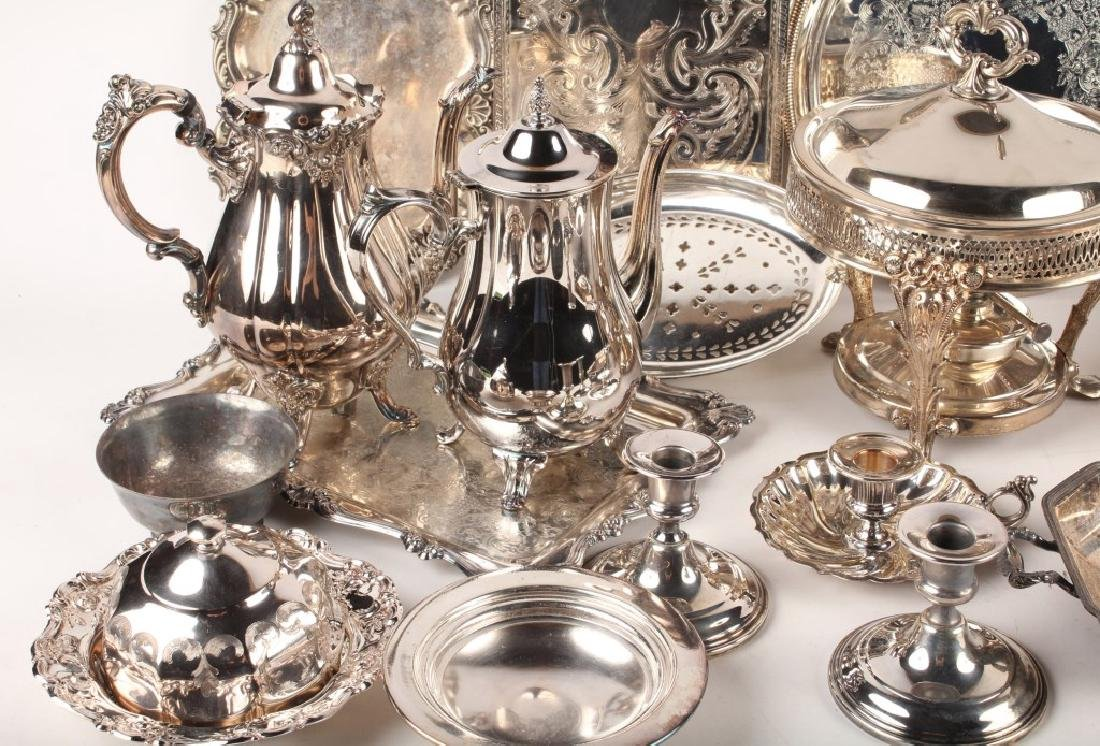 LARGE LOT OF SILVER PLATED ITEMS - 3
