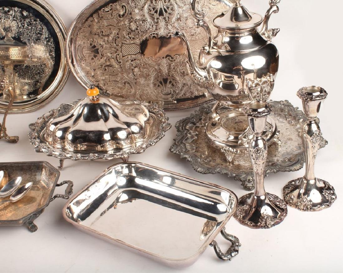 LARGE LOT OF SILVER PLATED ITEMS - 5