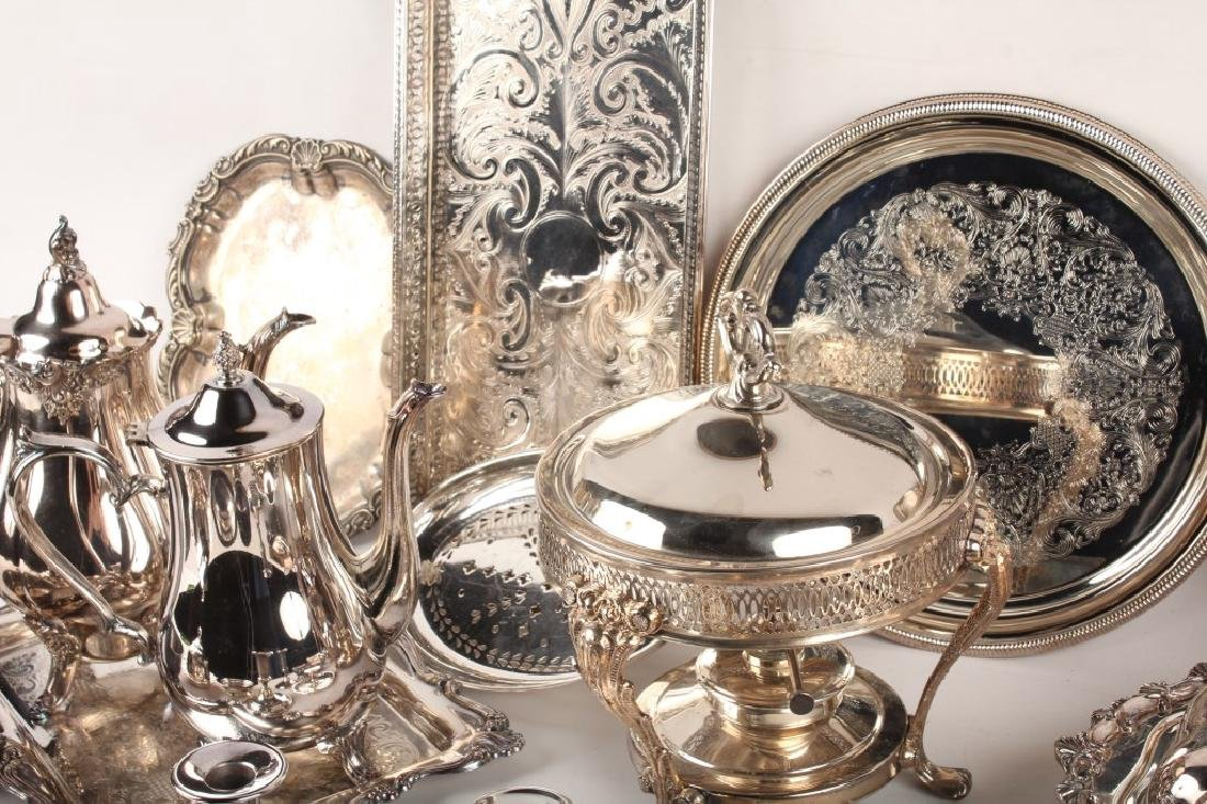 LARGE LOT OF SILVER PLATED ITEMS - 6