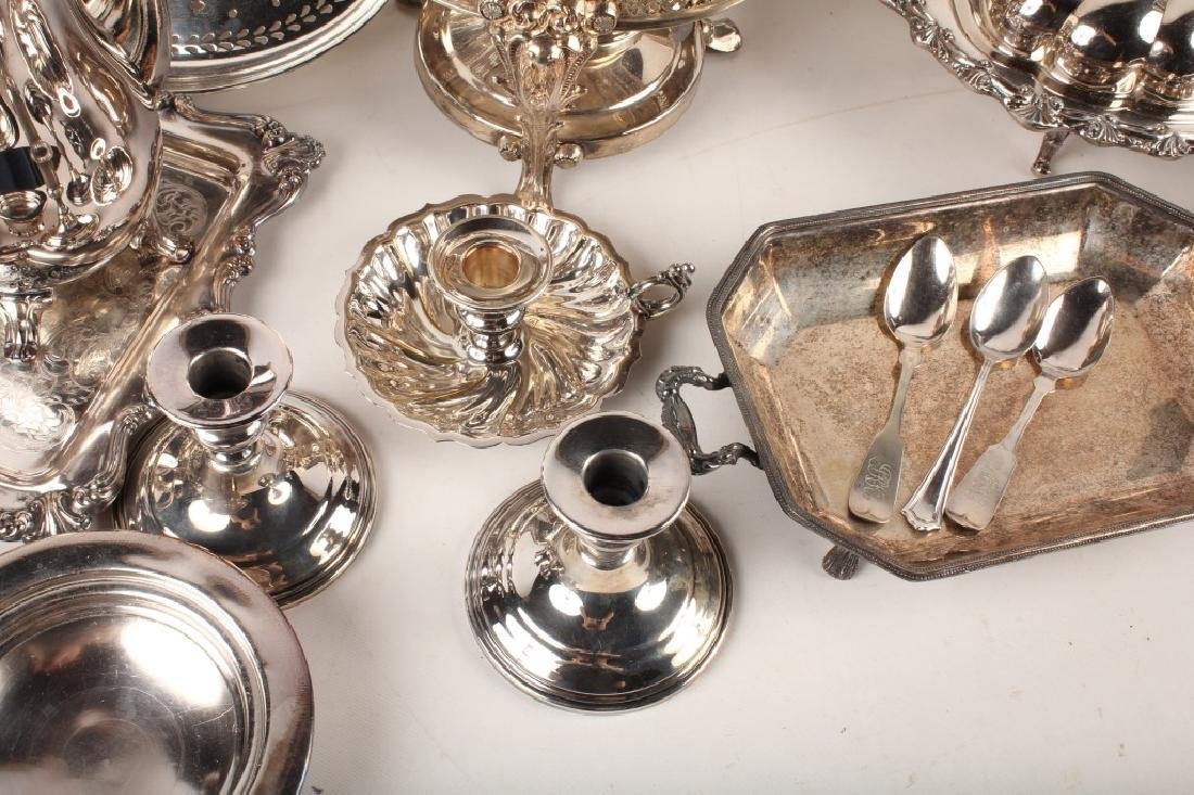 LARGE LOT OF SILVER PLATED ITEMS - 7
