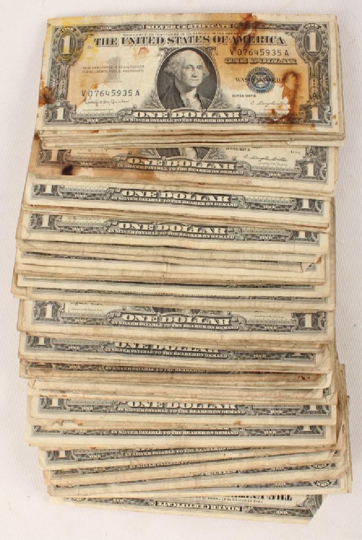 (100) $1.00 WASHINGTON SILVER CERTIFICATES