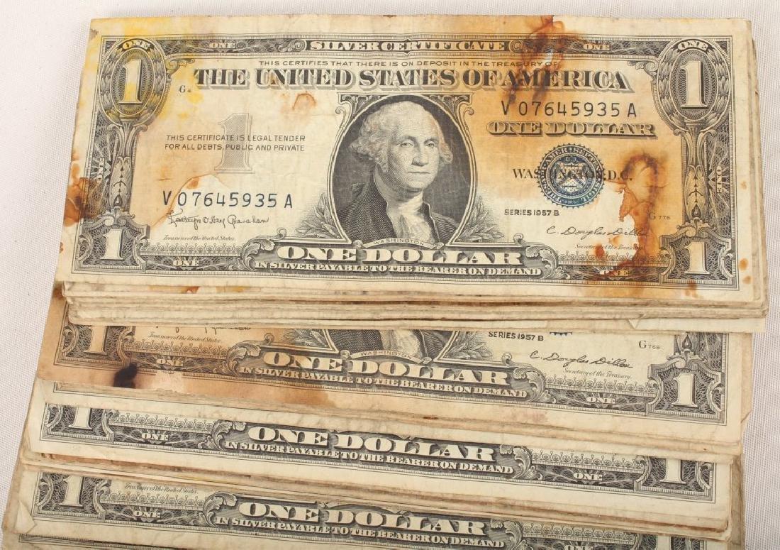(100) $1.00 WASHINGTON SILVER CERTIFICATES - 2