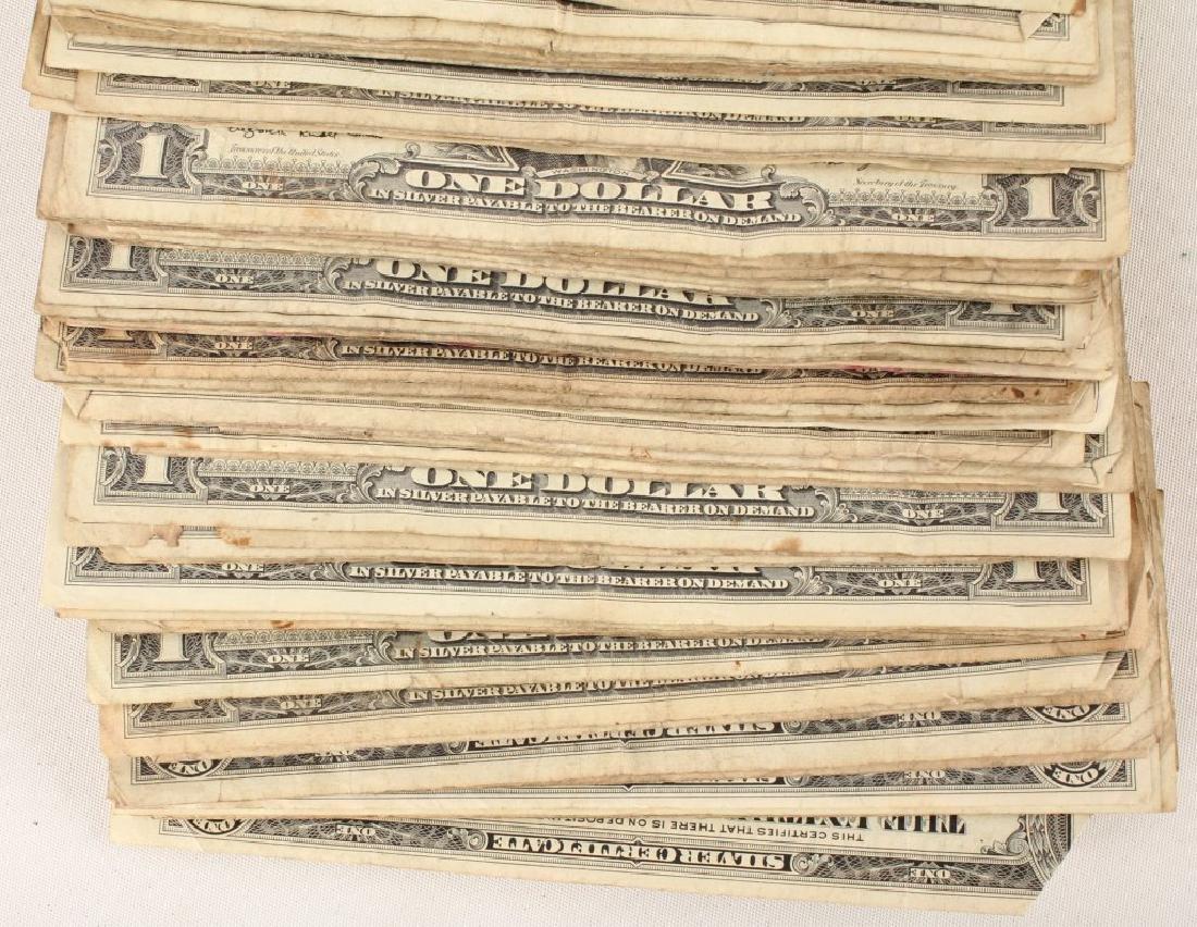 (100) $1.00 WASHINGTON SILVER CERTIFICATES - 3