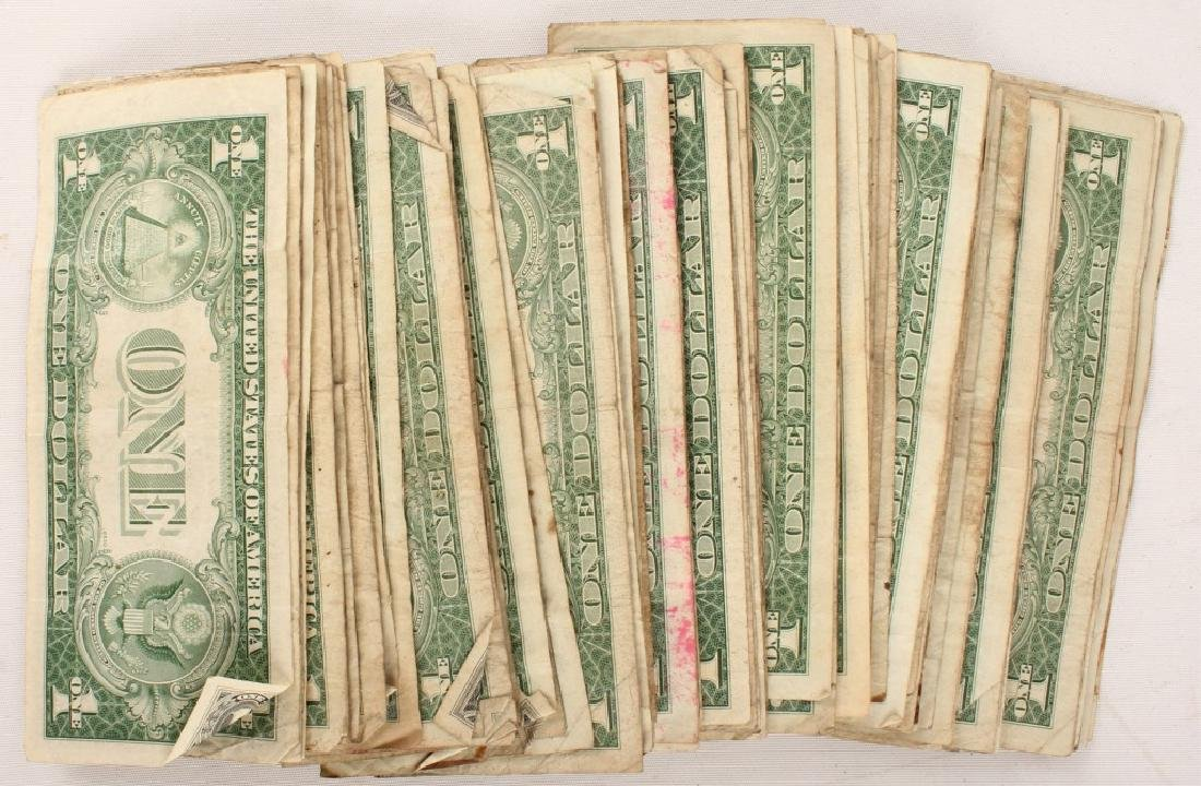 (100) $1.00 WASHINGTON SILVER CERTIFICATES - 4