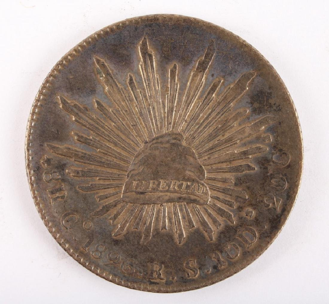 1896 MEXICAN SILVER 8 REALES COIN