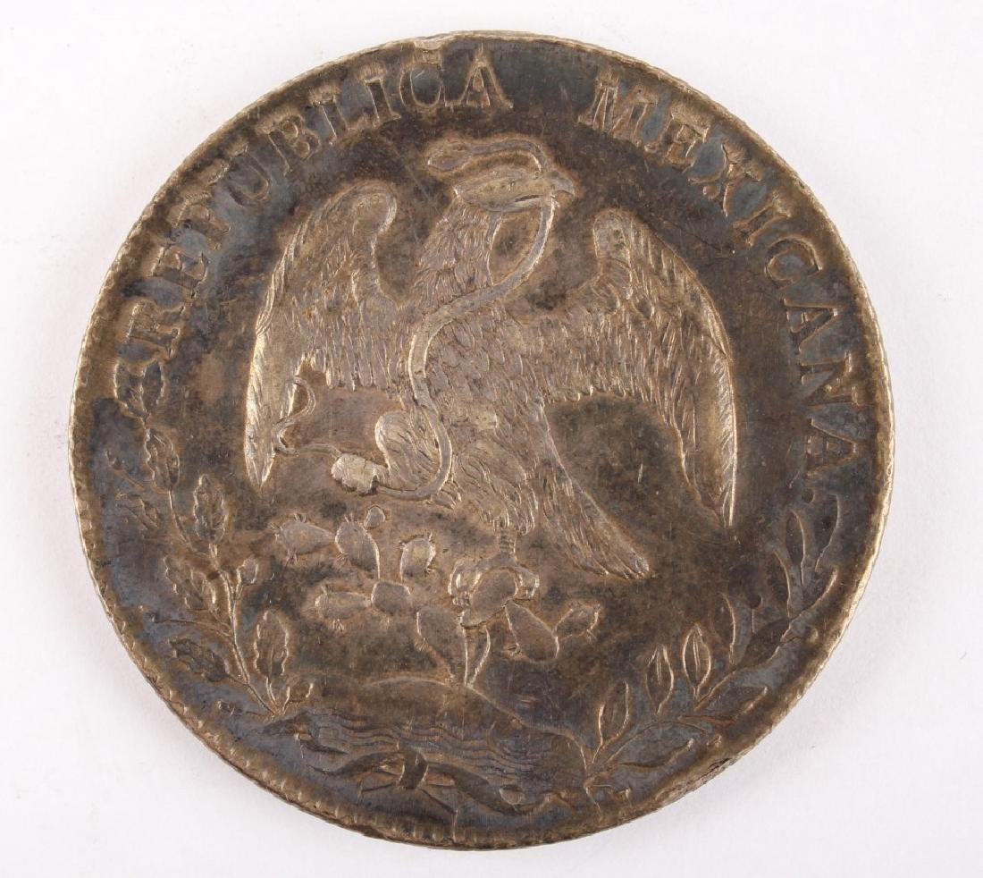1896 MEXICAN SILVER 8 REALES COIN - 2