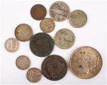 MIXED 19TH  20TH C UNITED STATES SILVER COINAGE