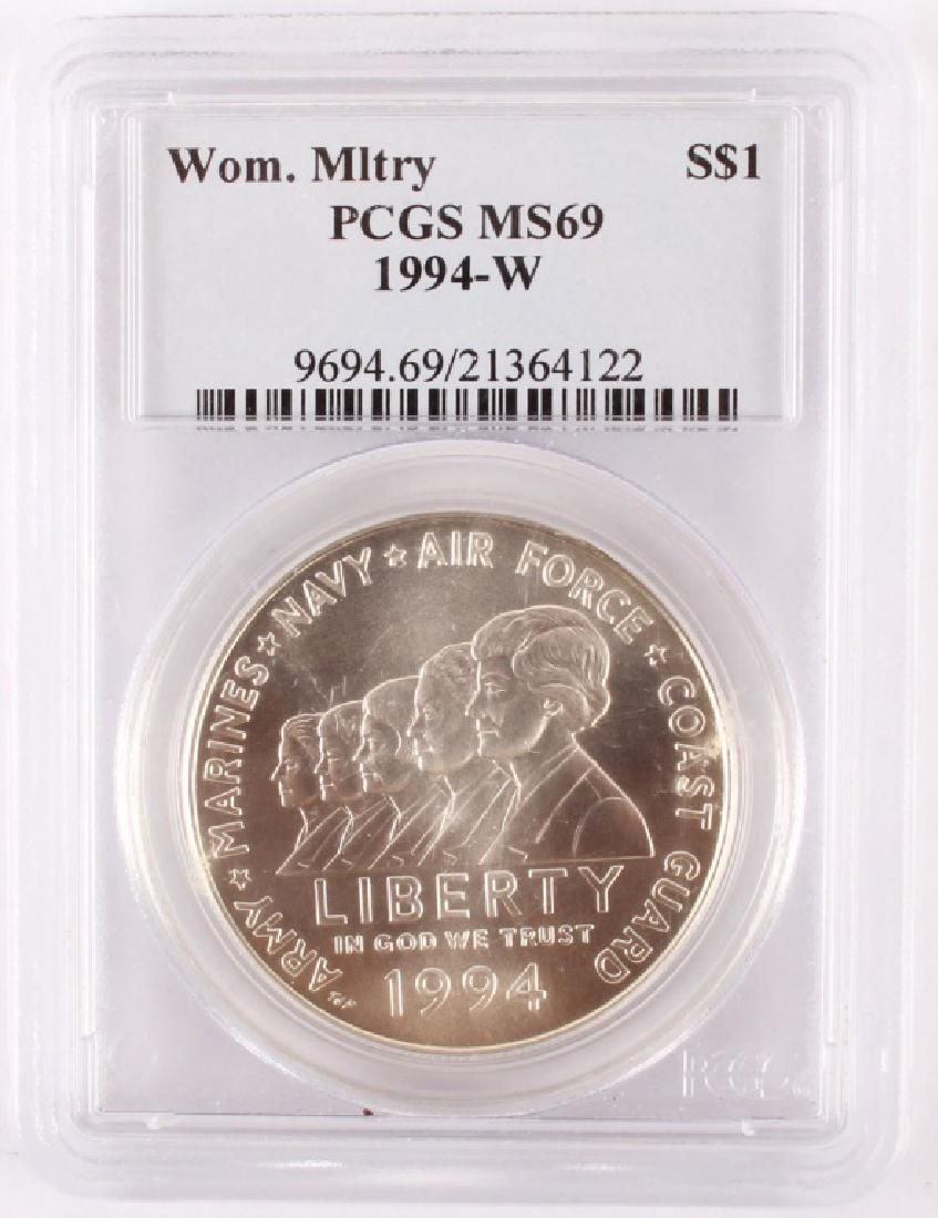 1994 WOMEN MILITARY SILVER COMMEMORATIVE DOLLAR