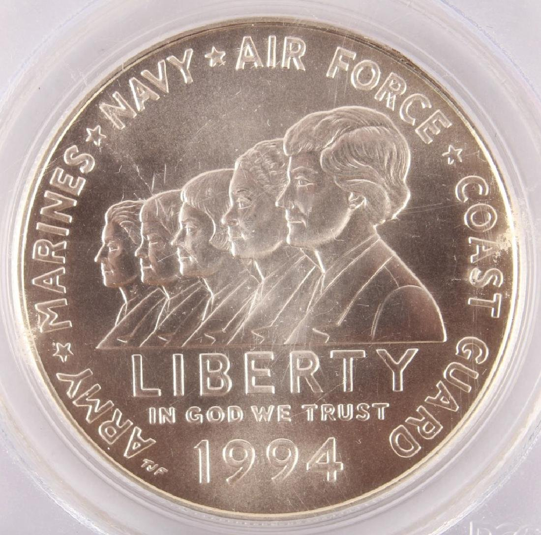 1994 WOMEN MILITARY SILVER COMMEMORATIVE DOLLAR - 2
