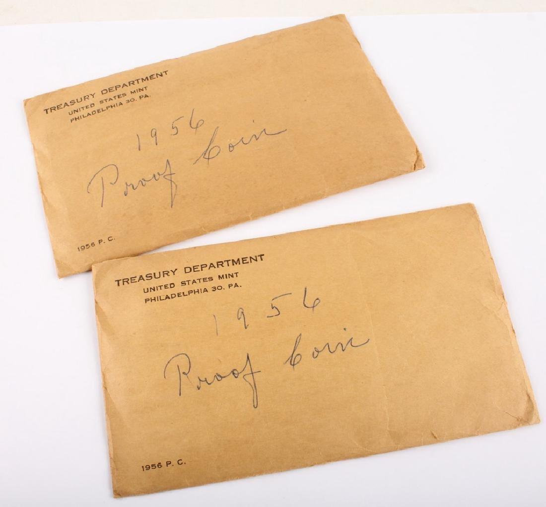 2 U.S. MINT 1956 SEALED SILVER PROOF SETS