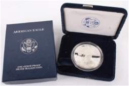 2006 W AMERICAN EAGLE SILVER ONE OUNCE PROOF COIN