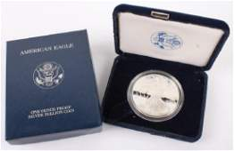 2001 W AMERICAN EAGLE SILVER ONE OUNCE PROOF COIN