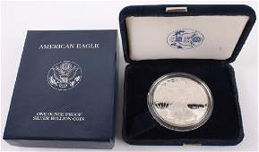 2002 W AMERICAN EAGLE SILVER ONE OUNCE PROOF COIN
