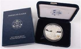 2005 W AMERICAN EAGLE SILVER ONE OUNCE PROOF COIN