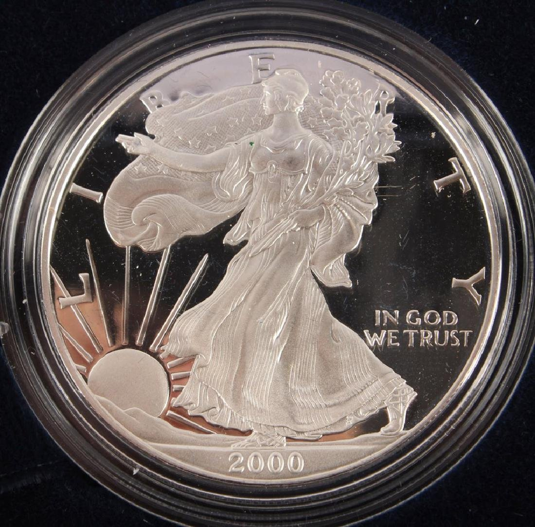 2000 P AMERICAN EAGLE SILVER ONE OUNCE PROOF COIN - 2