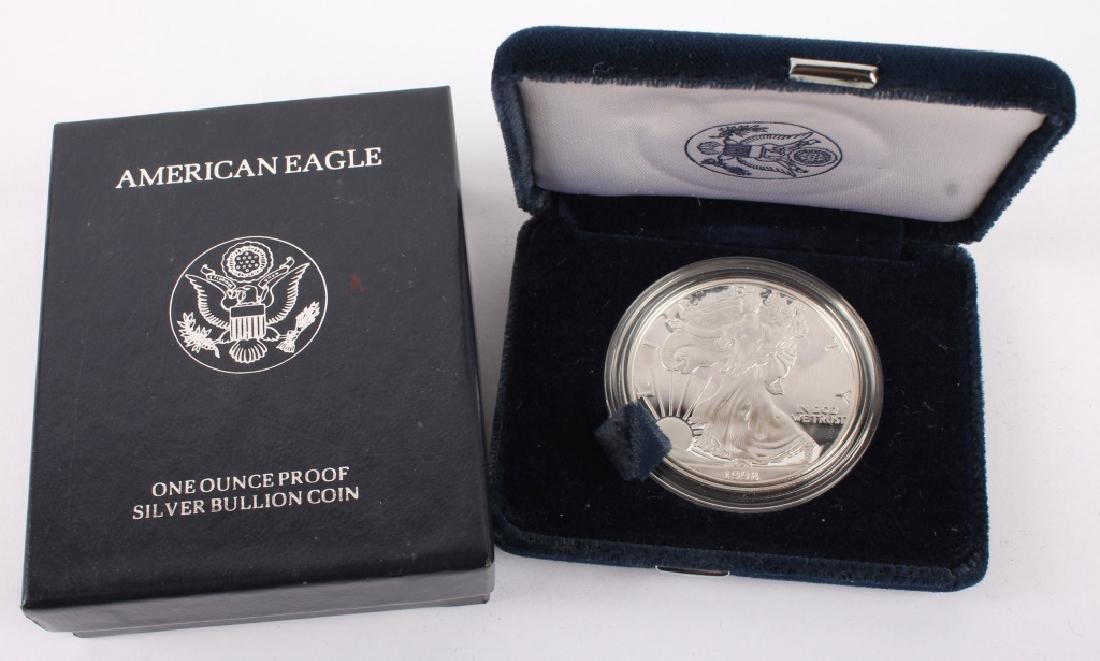 1998 P AMERICAN EAGLE SILVER ONE OUNCE PROOF COIN