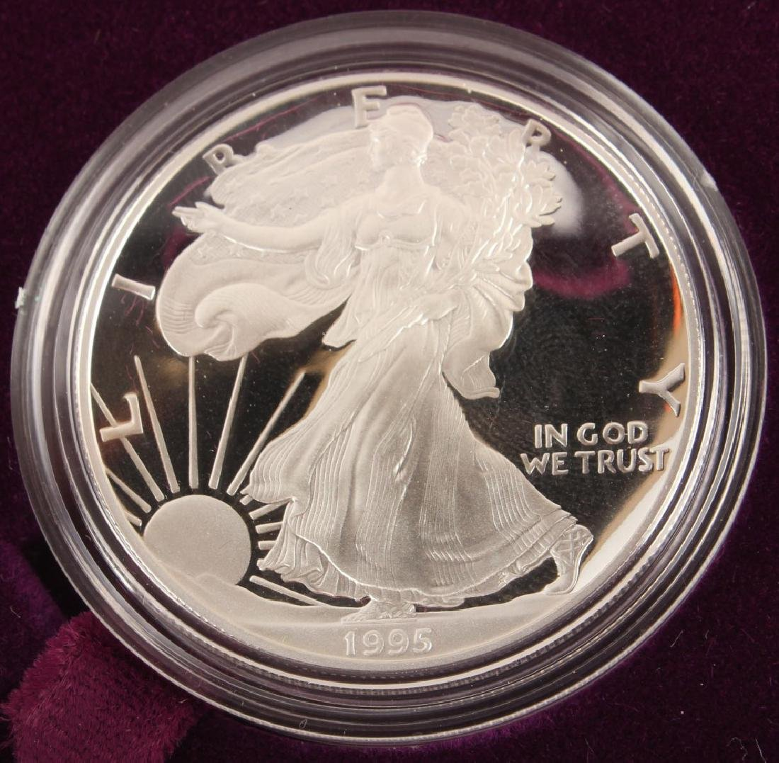 1995 P AMERICAN EAGLE SILVER ONE OUNCE PROOF COIN - 2