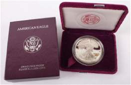 1993 P AMERICAN EAGLE SILVER ONE OUNCE PROOF COIN