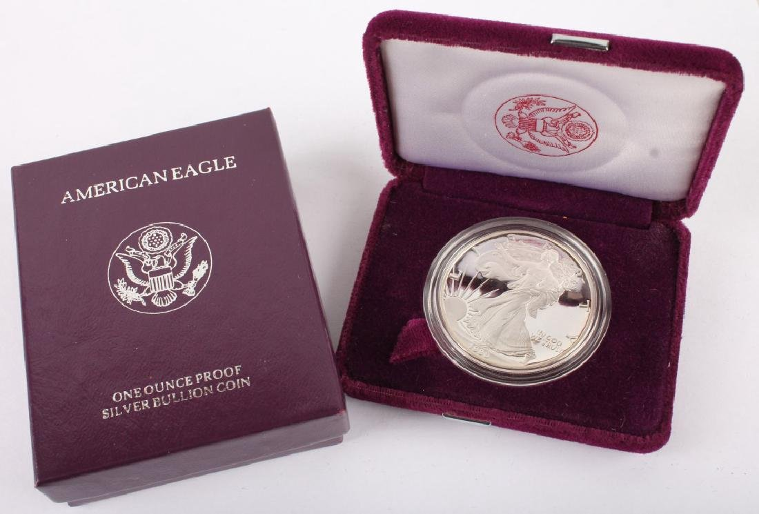 1990 S AMERICAN EAGLE SILVER ONE OUNCE PROOF COIN