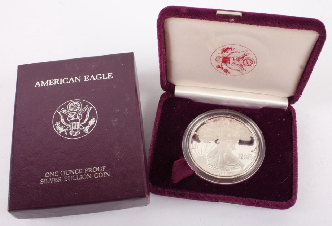 1988 S AMERICAN EAGLE SILVER ONE OUNCE PROOF COIN