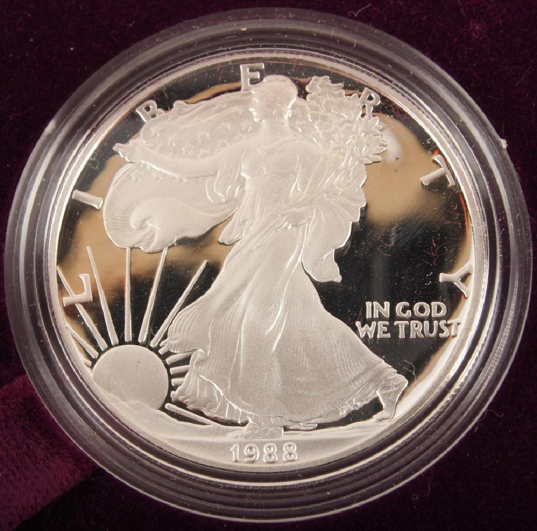 1988 S AMERICAN EAGLE SILVER ONE OUNCE PROOF COIN - 2