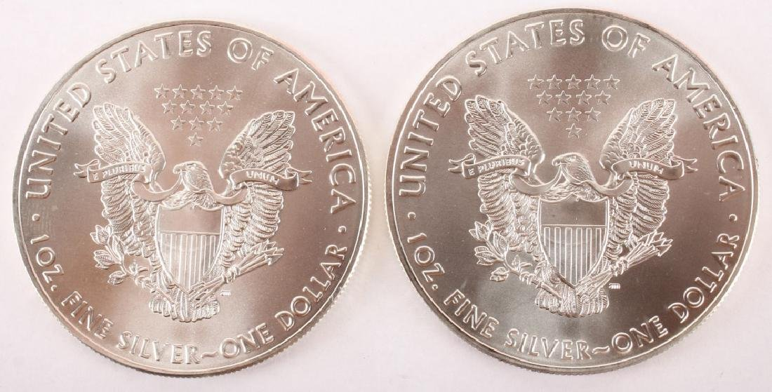 2 UNITED STATES 2016 AMERICAN SILVER EAGLES 1OZ - 2