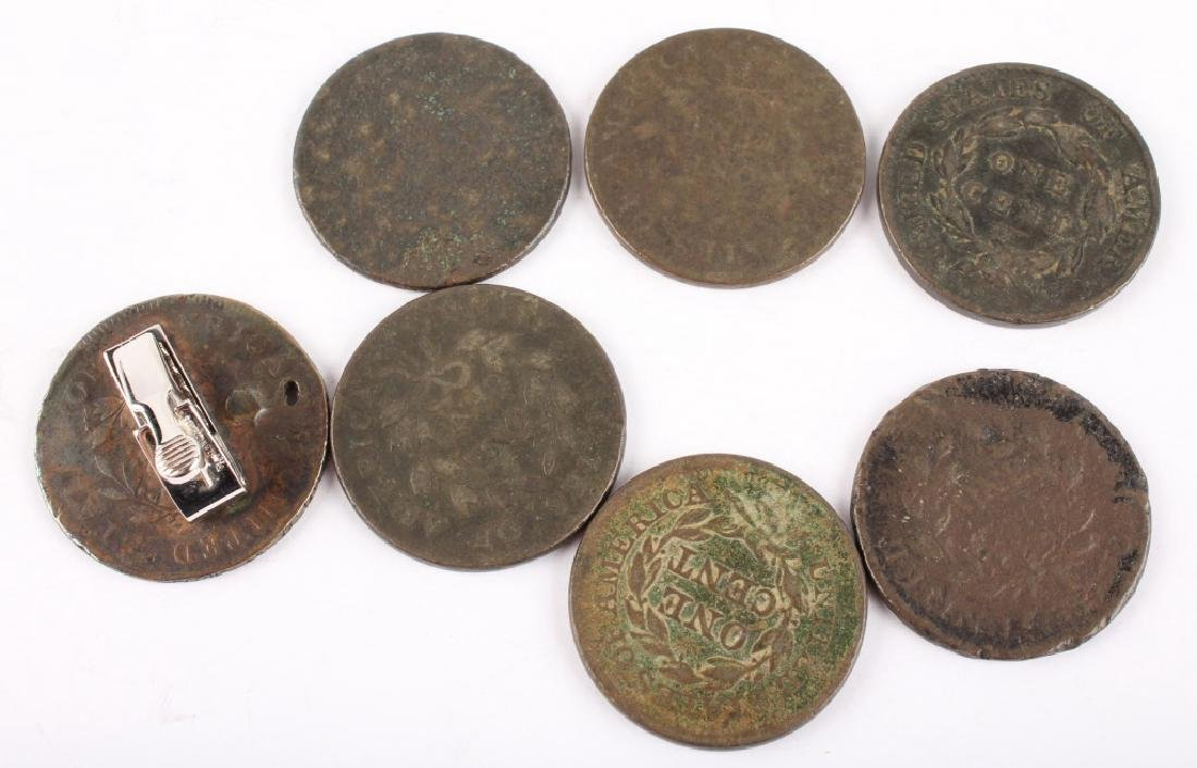 7 EARLY U.S. LARGE CENTS 1798 - 1851 - 2