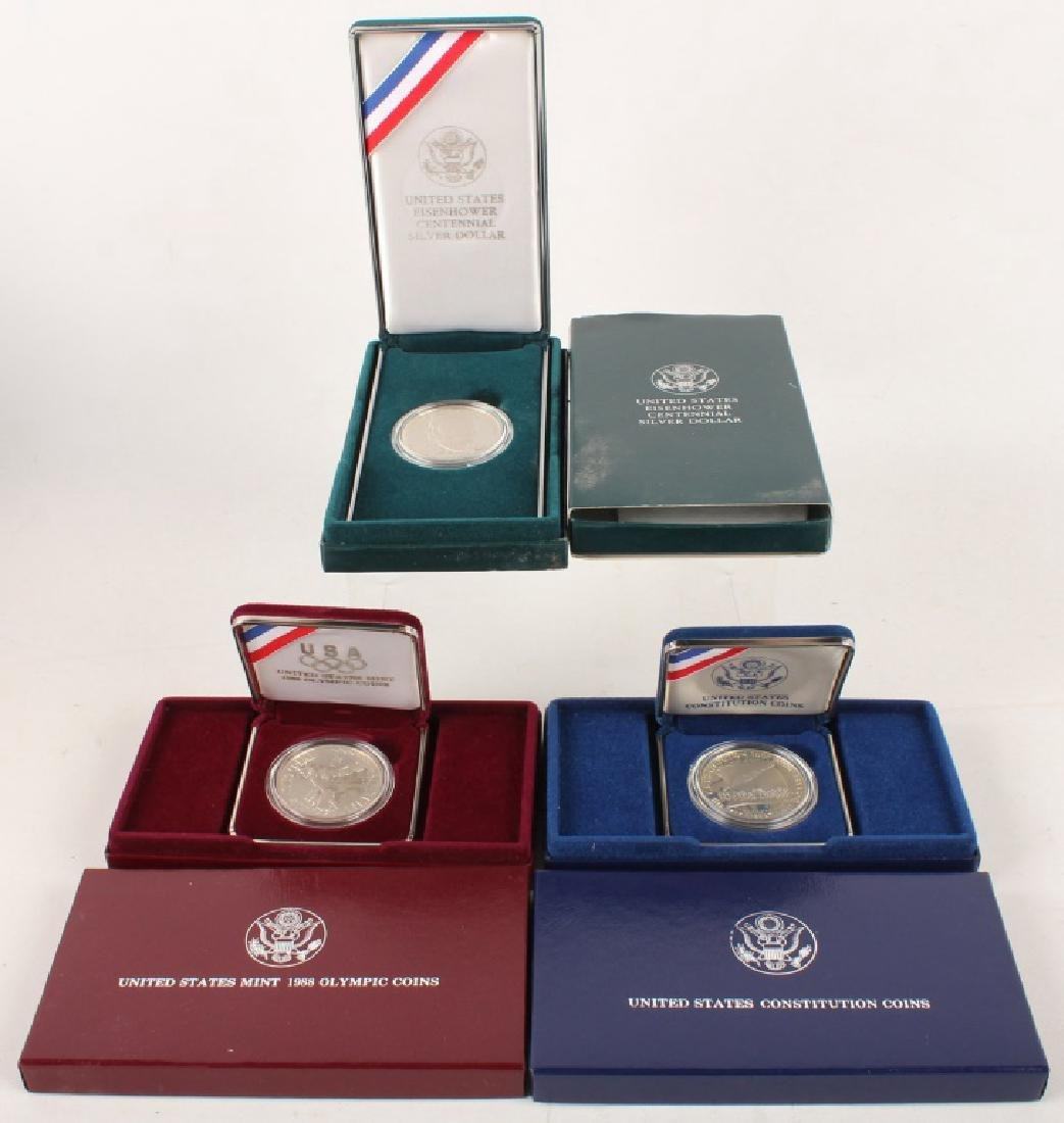 3 MODERN SILVER U.S. COMMEMORATIVES PROOF COINS