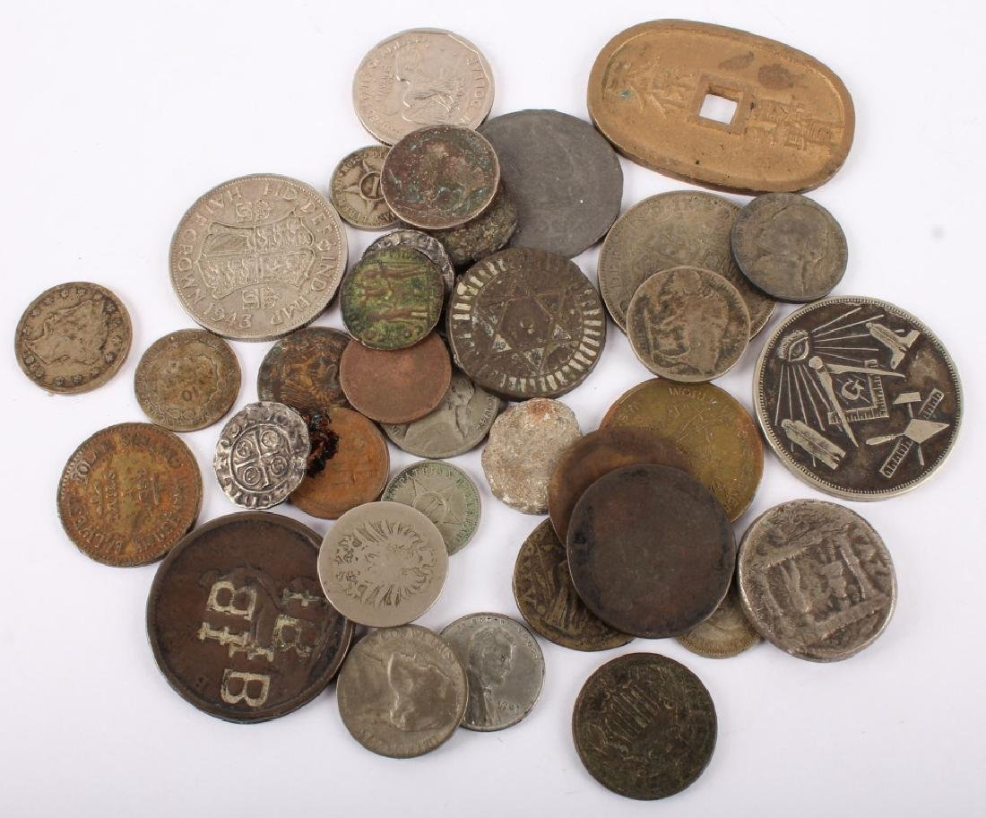 MIXED 19TH & 20TH C. SILVER & COPPER WORLD COINAGE