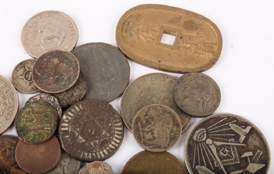 MIXED 19TH & 20TH C. SILVER & COPPER WORLD COINAGE - 3