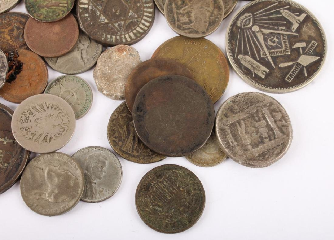 MIXED 19TH & 20TH C. SILVER & COPPER WORLD COINAGE - 4