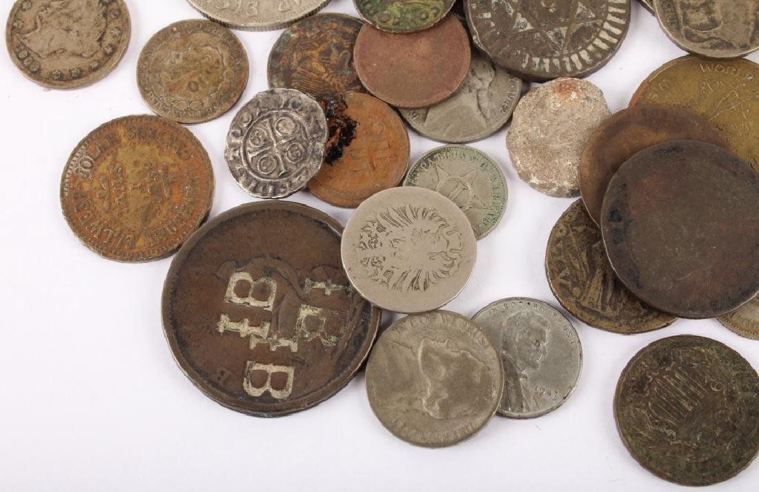 MIXED 19TH & 20TH C. SILVER & COPPER WORLD COINAGE - 5