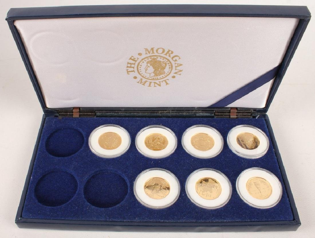 PARTIAL GOLD PLATED STATEHOOD QUARTERS '99-'00 SET