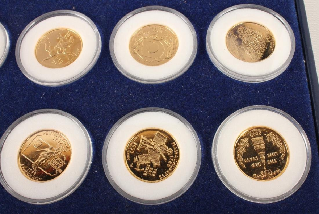 PARTIAL GOLD PLATED STATEHOOD QUARTERS '99-'00 SET - 2