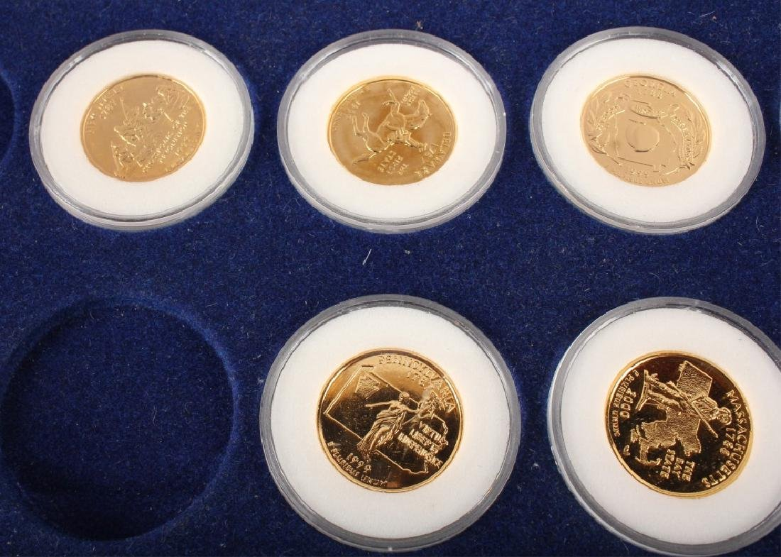 PARTIAL GOLD PLATED STATEHOOD QUARTERS '99-'00 SET - 3