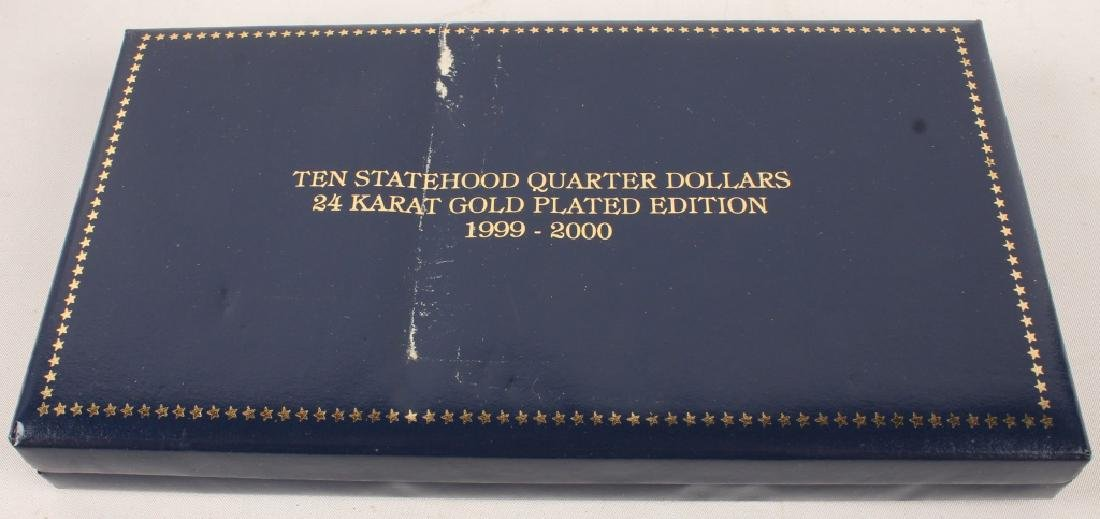 PARTIAL GOLD PLATED STATEHOOD QUARTERS '99-'00 SET - 4