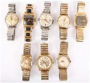 MIXED LOT OF 8 MEN'S WRISTWATCHES