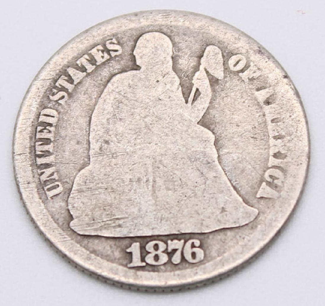 1876 CARSON CITY SEATED LIBERTY DIME