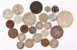 MIXED LOT OF 19TH  20TH CENTURY US COINAGE