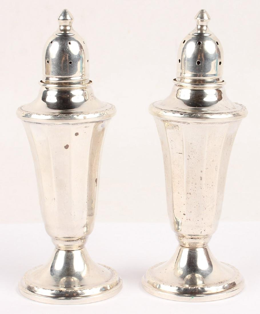 2 STERLING SILVER WEIGHTED SALT & PEPPER SHAKERS