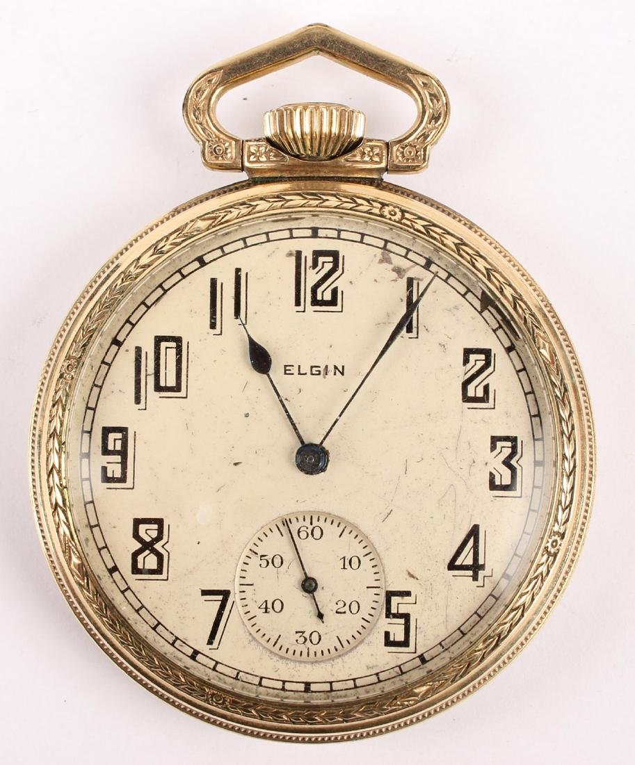 ELGIN GOLD PLATED POCKET WATCH