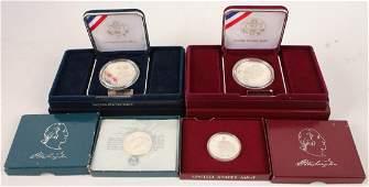 4 UNITED STATES SILVER COMMEMORATIVE COIN SETS