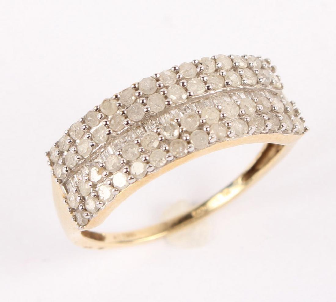 LADIES 10K YELLOW GOLD DIAMOND RING