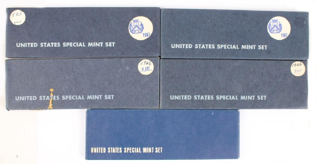 (5) UNITED STATES SILVER PROOF SPECIAL MINT SETS