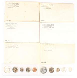 8 UNITED STATES SILVER UNCIRCULATED MINT SETS