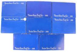 8 UNITED STATES SILVER PROOF US MINT SETS